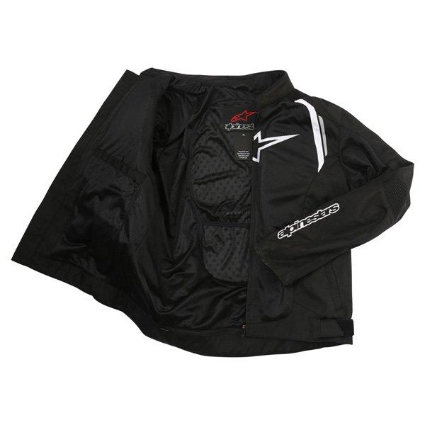 Alpinestars AST Air Mens Black Textile Motorcycle Jacket Inside