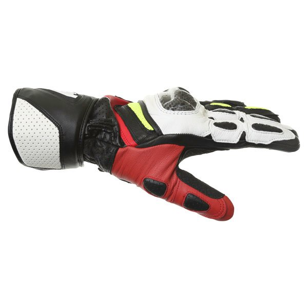 Alpinestars SP-2 Black White Yellow Red Motorcycle Gloves Thumb side
