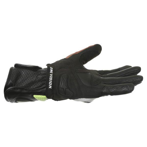 Alpinestars SP-2 Black White Yellow Red Motorcycle Gloves Little finger side