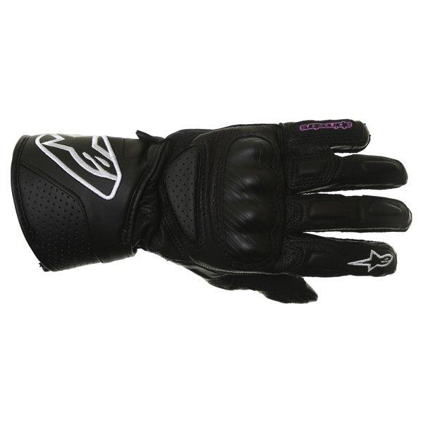 Alpinestars Stella SP-8 Ladies Black Motorcycle Gloves Back