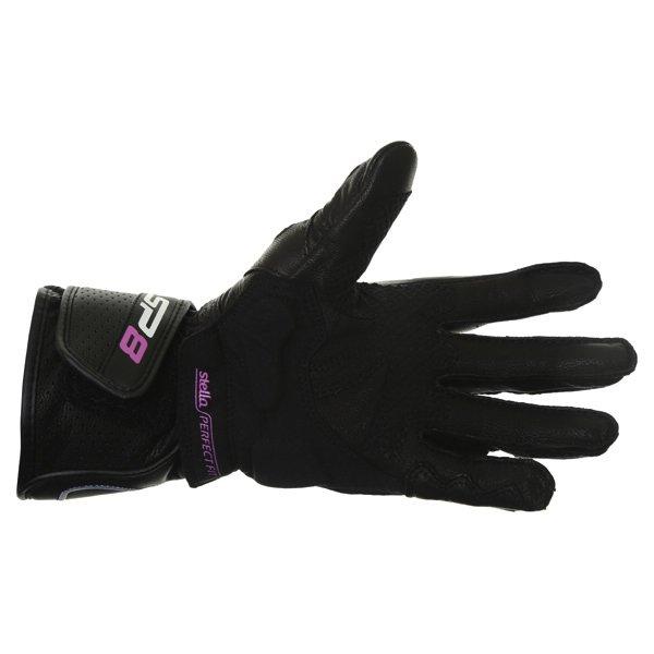 Alpinestars Stella SP-8 Ladies Black Motorcycle Gloves Palm