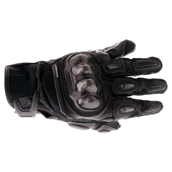 Alpinestars SPX Air Carbon Black Motorcycle Gloves Back