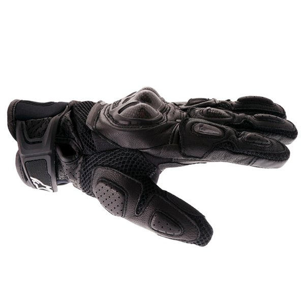 Alpinestars SPX Air Carbon Black Motorcycle Gloves Thumb side