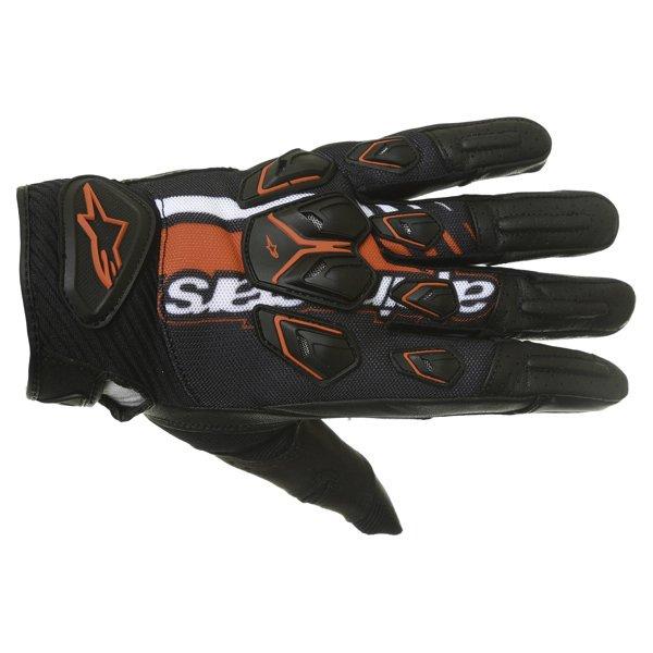 Alpinestars Masai Black Red White Motorcycle Gloves Back