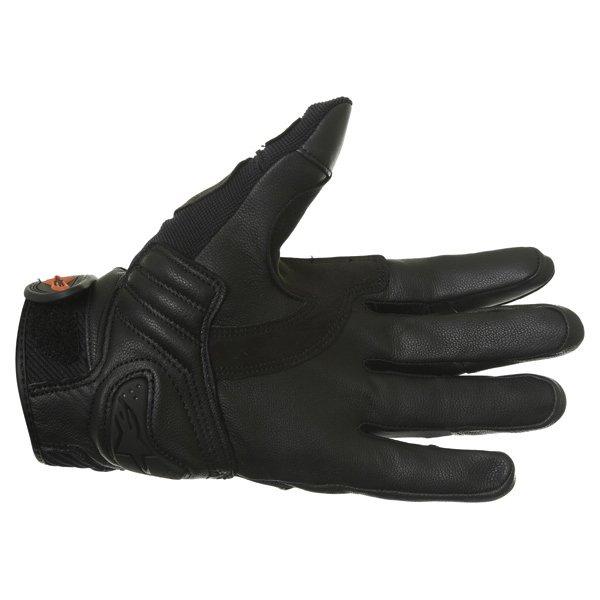 Alpinestars Masai Black Red White Motorcycle Gloves Palm