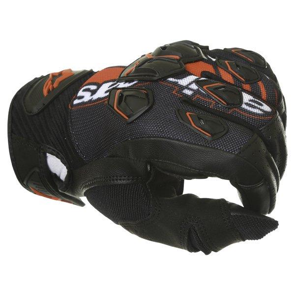 Alpinestars Masai Black Red White Motorcycle Gloves Knuckle