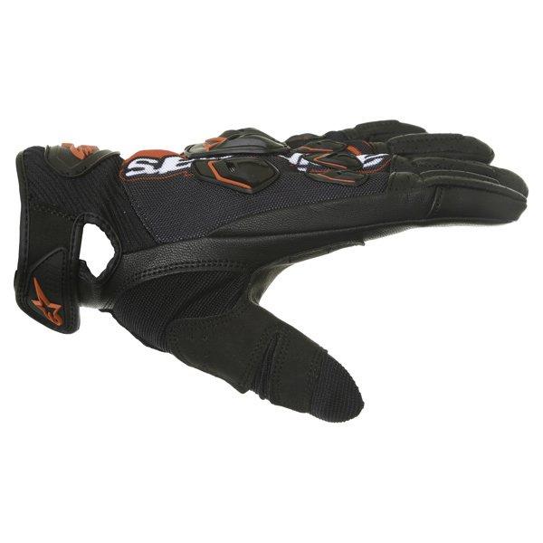Alpinestars Masai Black Red White Motorcycle Gloves Thumb side