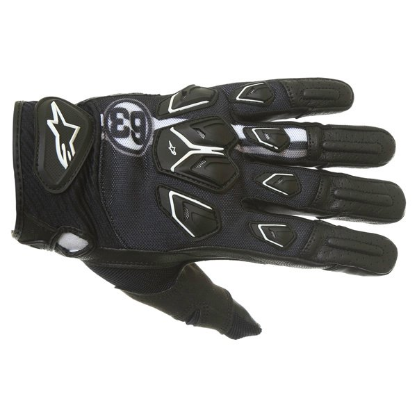 Alpinestars Masai Black White Cool Grey Motorcycle Gloves Back