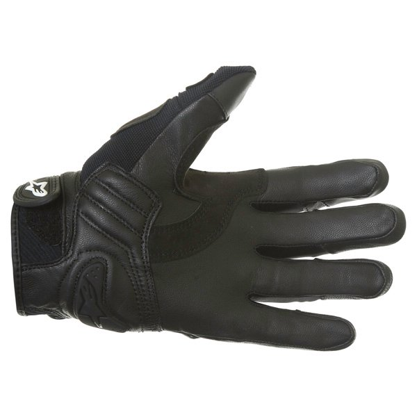 Alpinestars Masai Black White Cool Grey Motorcycle Gloves Palm