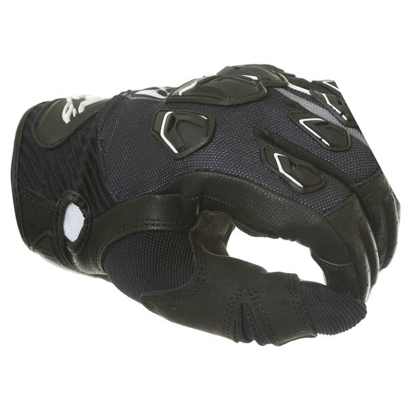 Alpinestars Masai Black White Cool Grey Motorcycle Gloves Knuckle