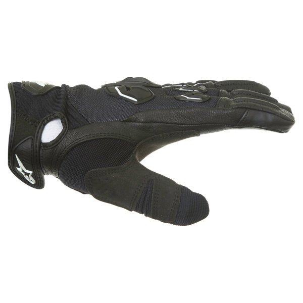 Alpinestars Masai Black White Cool Grey Motorcycle Gloves Thumb side