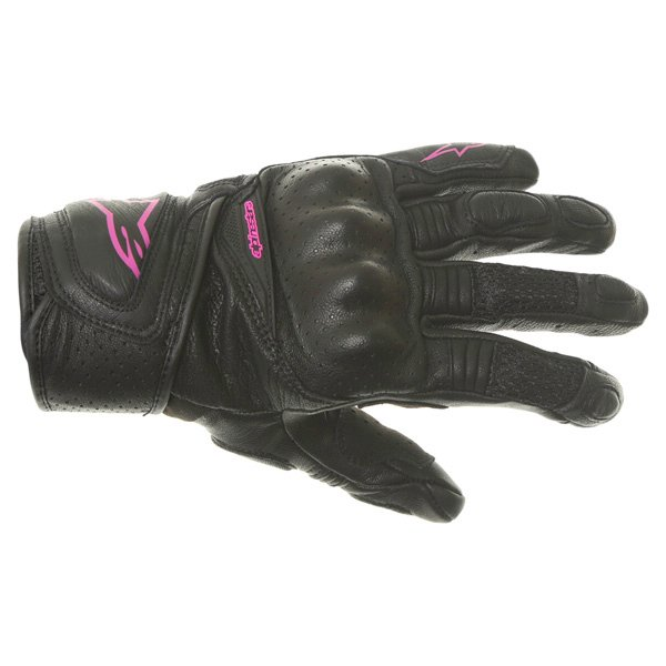 Alpinestars Stella Baika Ladies Black Pink Motorcycle Gloves Back