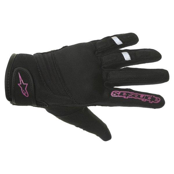 Alpinestars Stella Asama Air Ladies Black Rose Violet Motorcycle Gloves Back
