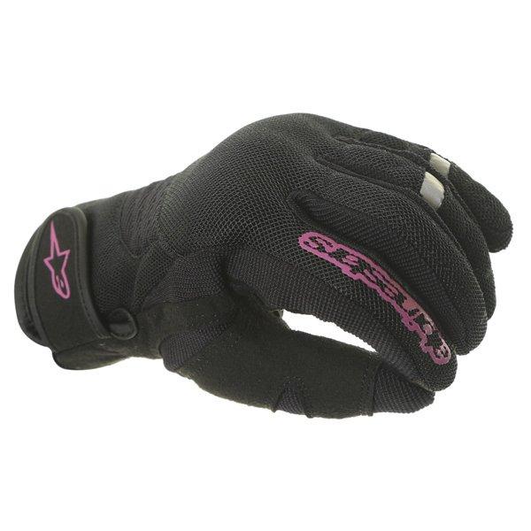 Alpinestars Stella Asama Air Ladies Black Rose Violet Motorcycle Gloves Knuckle