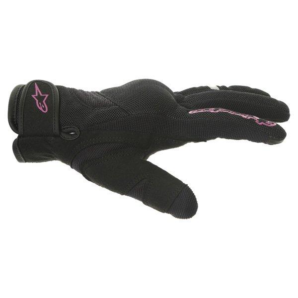 Alpinestars Stella Asama Air Ladies Black Rose Violet Motorcycle Gloves Thumb side
