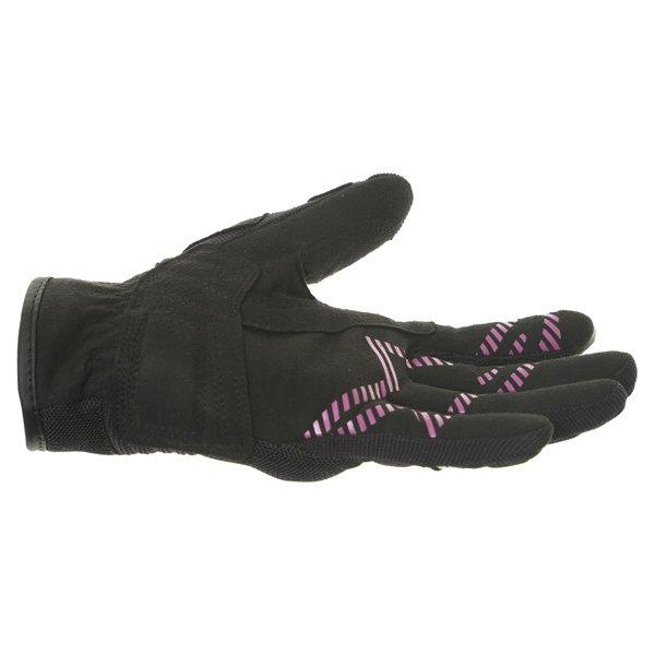 Alpinestars Stella Asama Air Ladies Black Rose Violet Motorcycle Gloves Little finger side