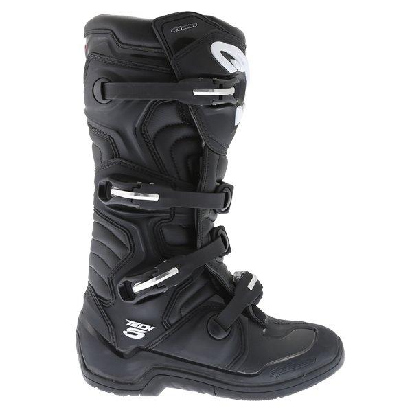 Alpinestars Tech 5 Black Motocross Boots Outside leg