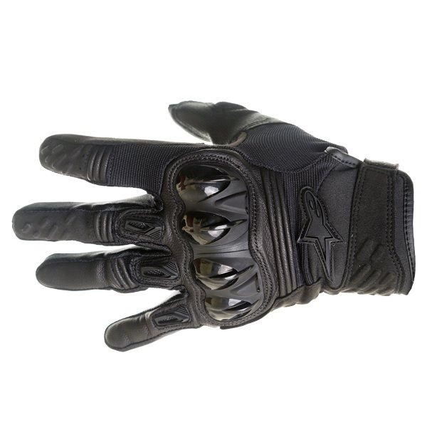 Alpinestars Megawatt Hard Knuckle Black Motocross Gloves Back