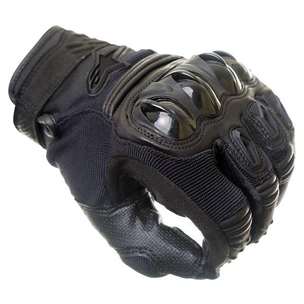 Alpinestars Megawatt Hard Knuckle Black Motocross Gloves Knuckle