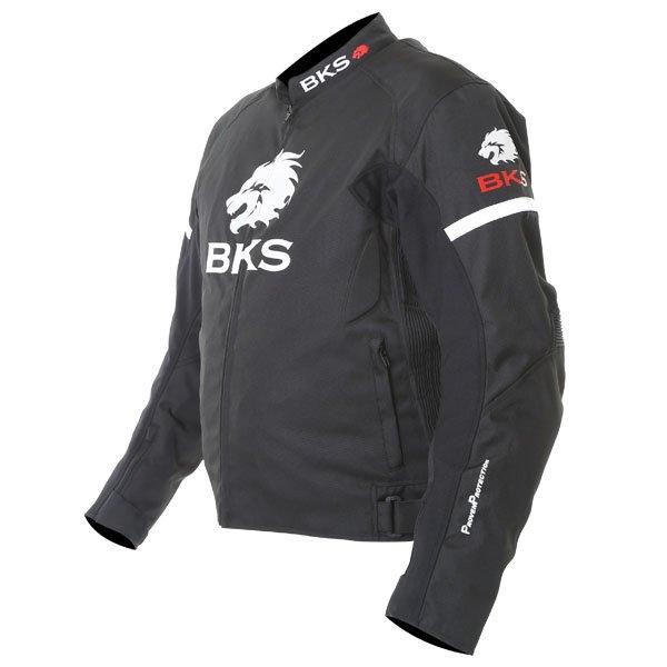 BKS Tiger Mens Black Textile Motorcycle Jacket Side