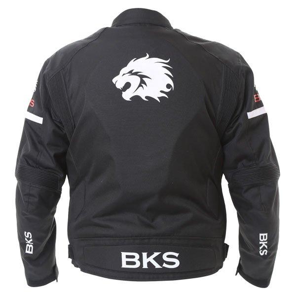 BKS Tiger Mens Black Textile Motorcycle Jacket Back