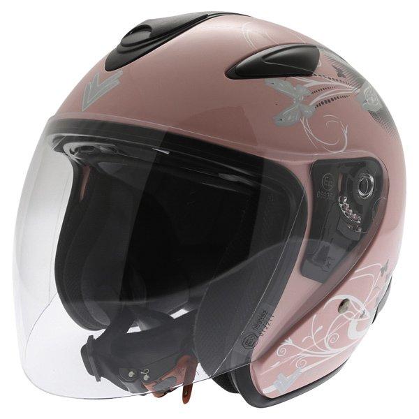 DV28 Open Face Helmet Pink Ladies Helmets