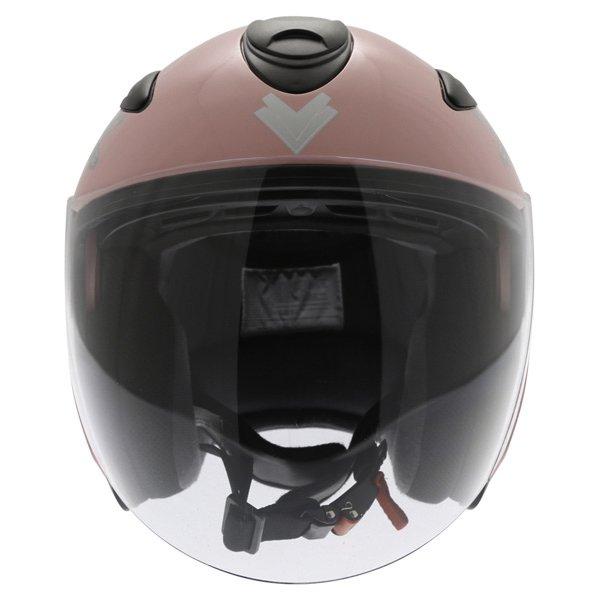 Frank Thomas DV28 Pink Ladies Open Face Motorcycle Helmet Front