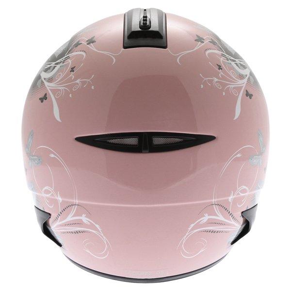 Frank Thomas DV28 Pink Ladies Open Face Motorcycle Helmet Back