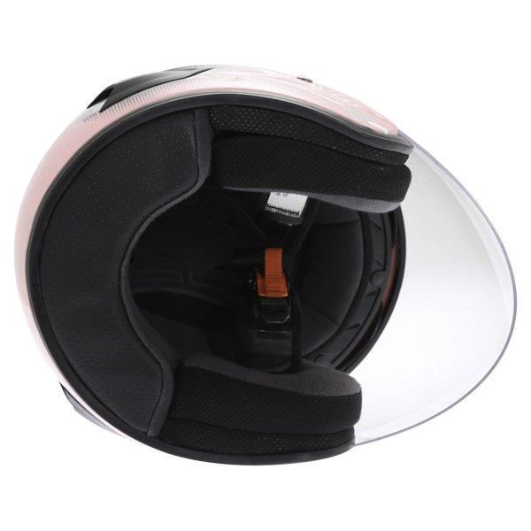 Frank Thomas DV28 Pink Ladies Open Face Motorcycle Helmet Inside