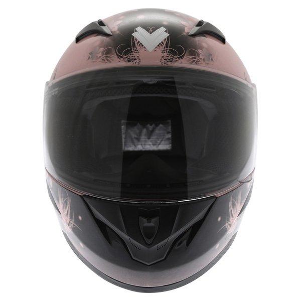 Frank Thomas FT36 Pink Ladies Full Face Motorcycle Helmet Front