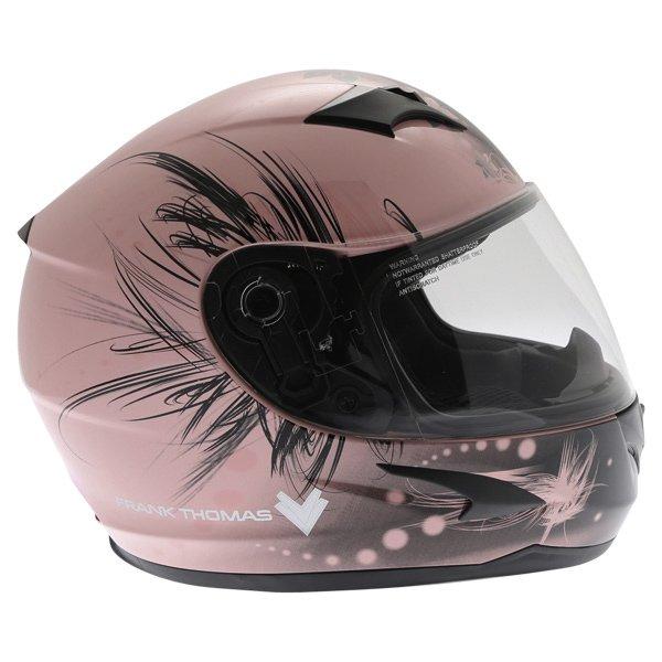 Frank Thomas FT36 Pink Ladies Full Face Motorcycle Helmet Right Side