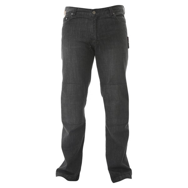 Stretch Jeans Black Denim Motorcycle Jeans