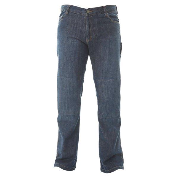 Stretch Jeans Blue Denim Motorcycle Jeans