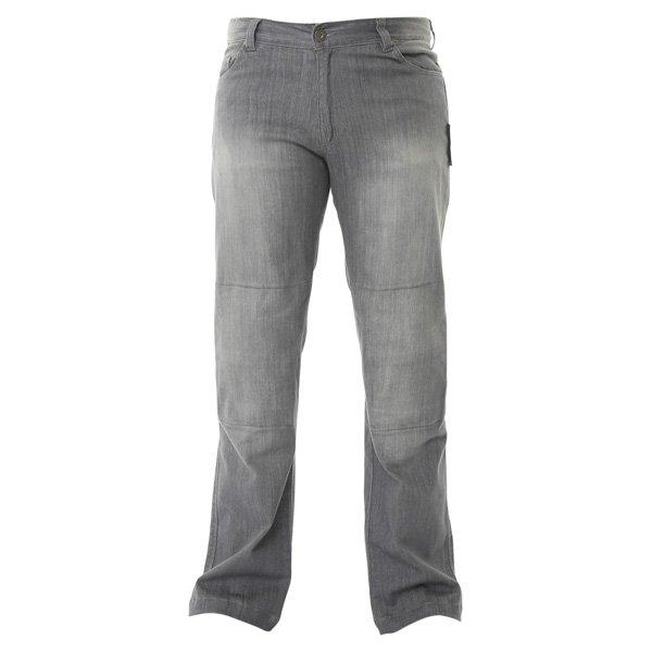 Stretch Jeans Grey Denim Motorcycle Jeans