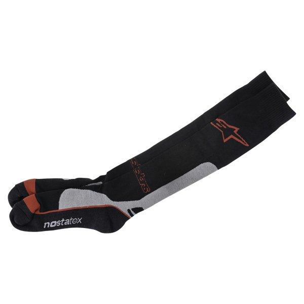 Alpinestars Pro Coolmax Black Grey Red Socks