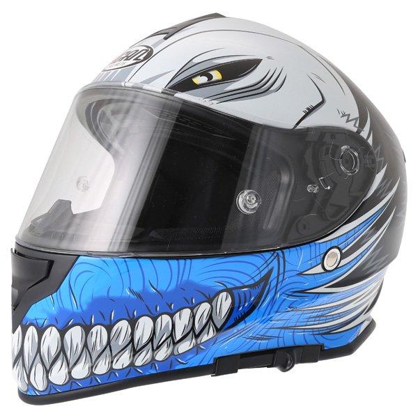 V127 Hollow Helmet Blue Vcan Helmets