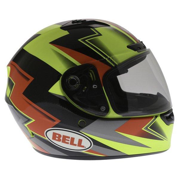 Bell Qualifier DLX Electric Hi-Viz Full Face Motorcycle Helmet Right Side