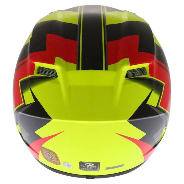 Bell Qualifier DLX Electric Hi-Viz Full Face Motorcycle Helmet Back