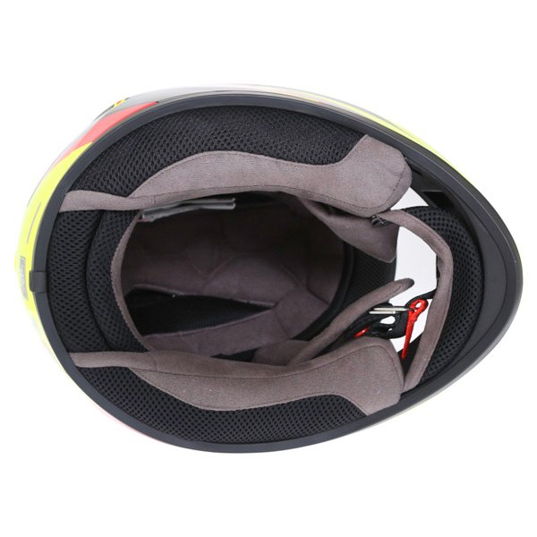 Bell Qualifier DLX Electric Hi-Viz Full Face Motorcycle Helmet Inside