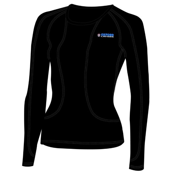 Layers All Year Pro Ls Womens Black Oxford Ladies