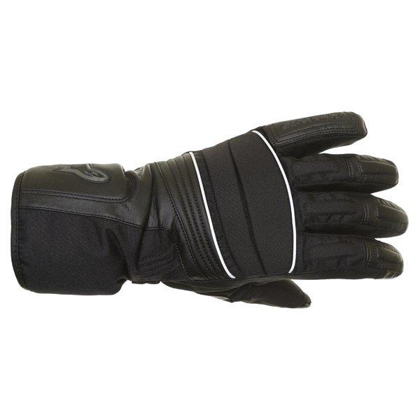 Alpinestars Oslo Drystar Black Grey Waterproof Motorcycle Gloves Back