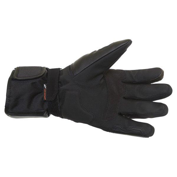 Alpinestars Oslo Drystar Black Grey Waterproof Motorcycle Gloves Palm