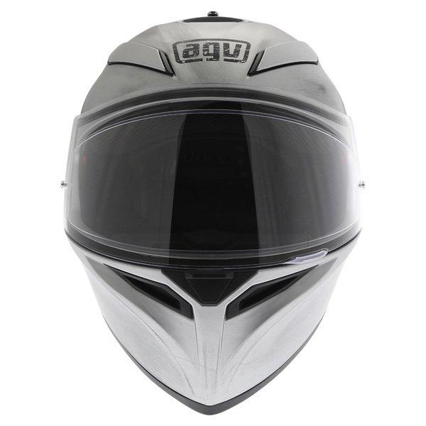 AGV K3 SV Scudetto Matt Silver Full Face Motorcycle Helmet Front