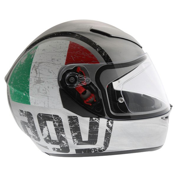 AGV K3 SV Scudetto Matt Silver Full Face Motorcycle Helmet Right Side