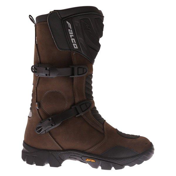 Falco Mixto 2 ATV Brown Motorcycle Boots Outside leg
