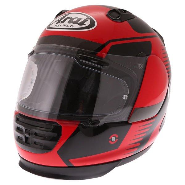 Arai Rebel Venturi Red Full Face Motorcycle Helmet Front Left