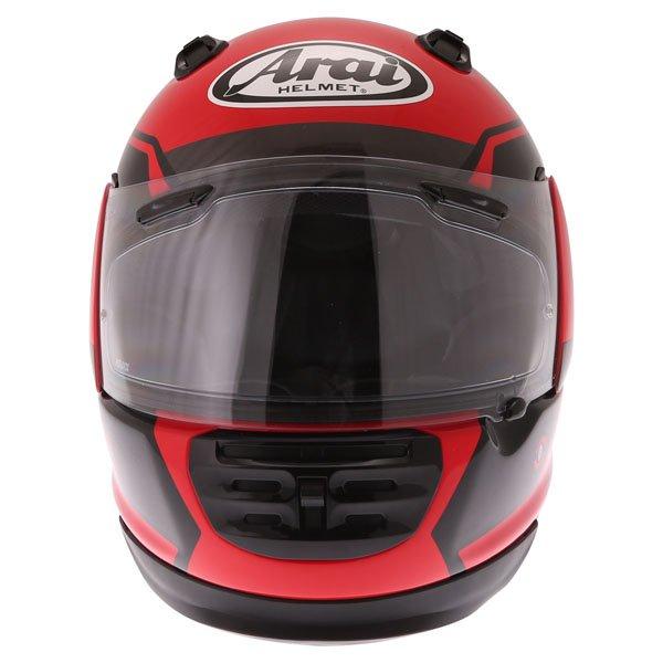 Arai Rebel Venturi Red Full Face Motorcycle Helmet Front