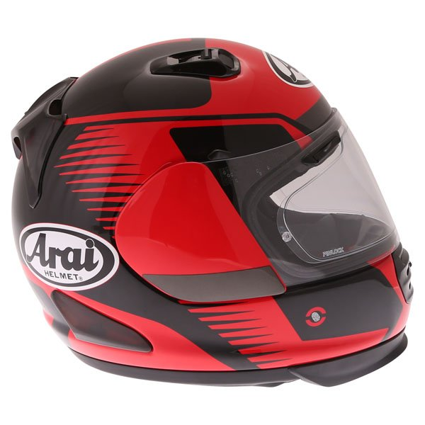 Arai Rebel Venturi Red Full Face Motorcycle Helmet Right Side
