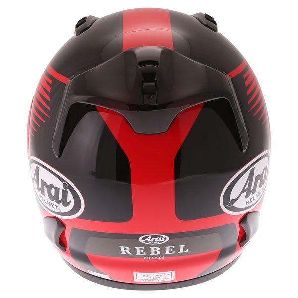 Arai Rebel Venturi Red Full Face Motorcycle Helmet Back