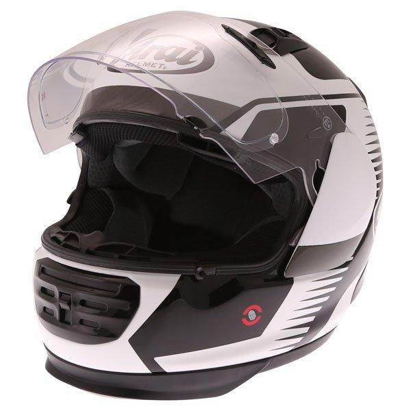 Arai Rebel Venturi White Full Face Motorcycle Helmet Open Visor